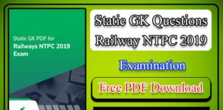 RRB NTPC Mock Test 2019