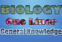 Biology One Liner GK