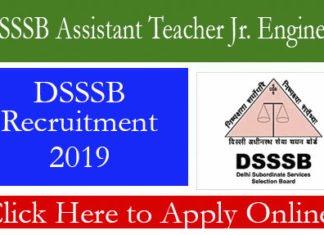 DSSSB Assistant Teacher Jr. Engineer