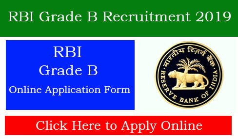 RBI Grade B Recruitment 2019