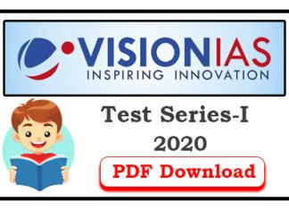 Vision IAS Prelims 2020 Subject Wise Test 1