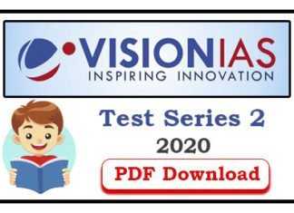 Vision IAS Prelims 2020 Subject Wise Test 2