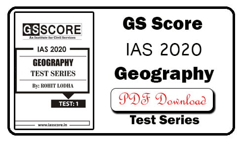 GS Score Geography Option Test Series 1