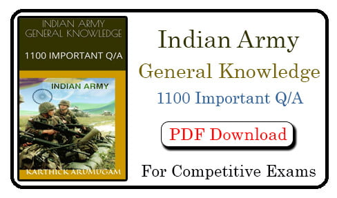 Indian Army General Knowledge