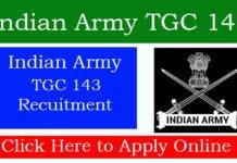 Indian Army TGC 143