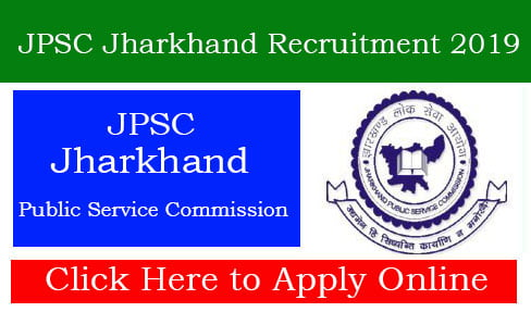 JPSC Jharkhand Recruitment 2019