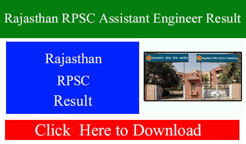 Rajasthan RPSC Assistant Engineer Result