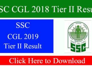 SSC CGL 2018 Tier II Result