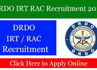DRDO IRT RAC Recruitment 2019
