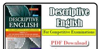 Descriptive English Writing