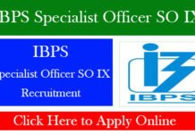 IBPS Specialist Officer SO IX