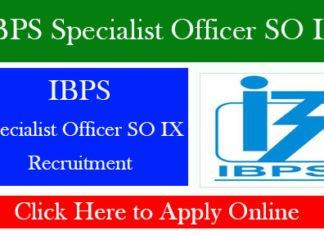 IBPS Specialist Officer SO IX