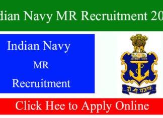 Indian Navy MR Recruitment 2019