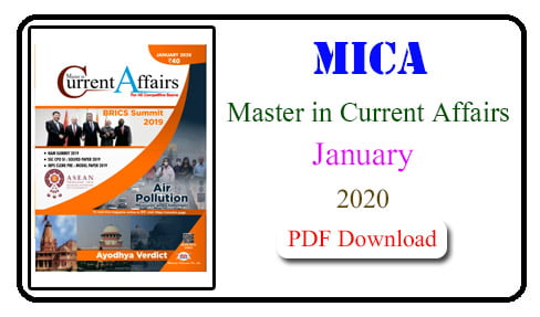 MICA Magazine January 2020