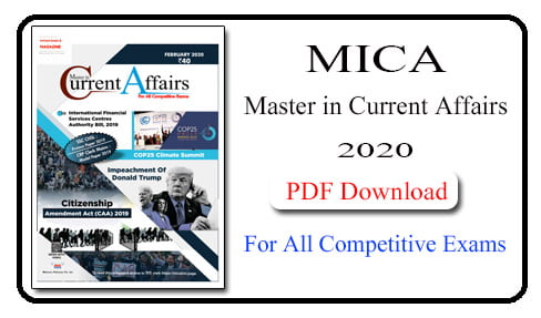 Master in Current Affairs February 2020