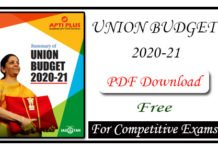 Summary of Union Budget 2020