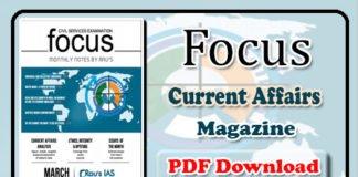 Focus Monthly Current Affairs Magazine