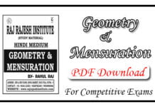 Geometry and Mensuration