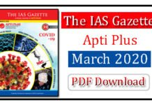 The IAS Gazette March 2020