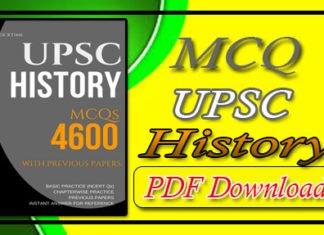 4600 MCQ UPSC History