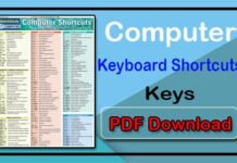 Computer Keyboard Shortcut Key PDF