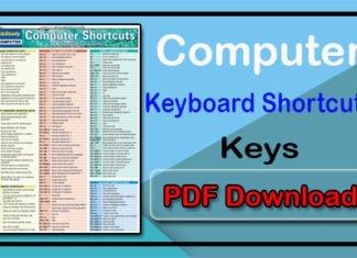 Computer Keyboard Shortcut Key PDF