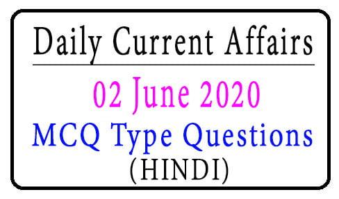 02 June 2020 Current Affairs