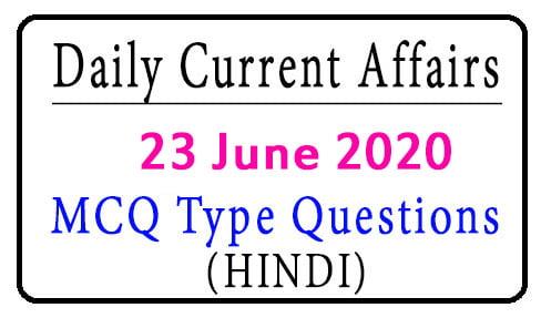 23 June 2020 Current Affairs