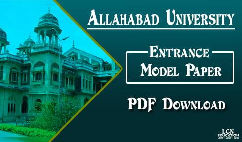 Allahabad University Entrance Model Paper 2019