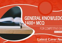 1400+ General Knowledge MCQ
