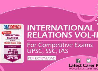 International Relations Part-II