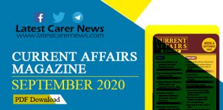 Weekly Current Affairs Magazine September 2020