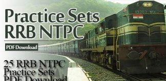 25 RRB NTPC Practice Sets