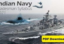 Indian Navy Tradesman Syllabus 2021