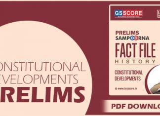 Constitutional Developments