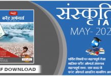 Sanskriti IAS Current Affairs Magazine May 2021
