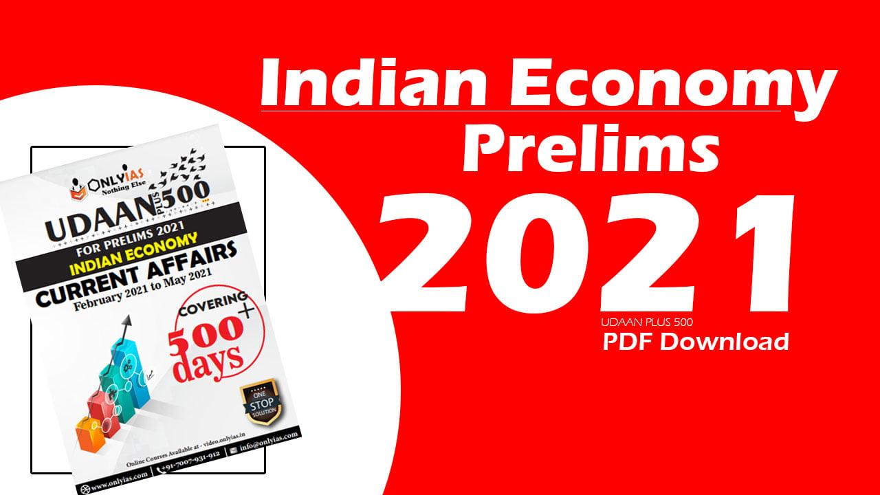Indian Economy Prelims 2021