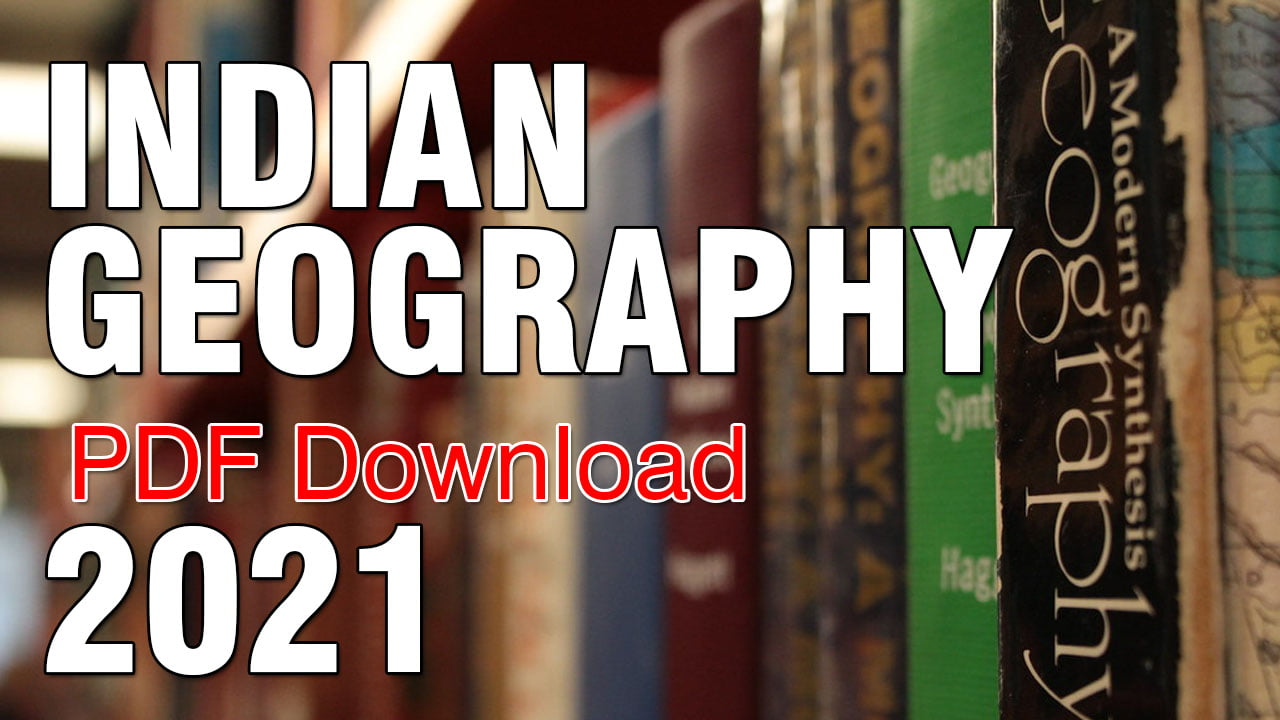 Indian Geography eBook 2021