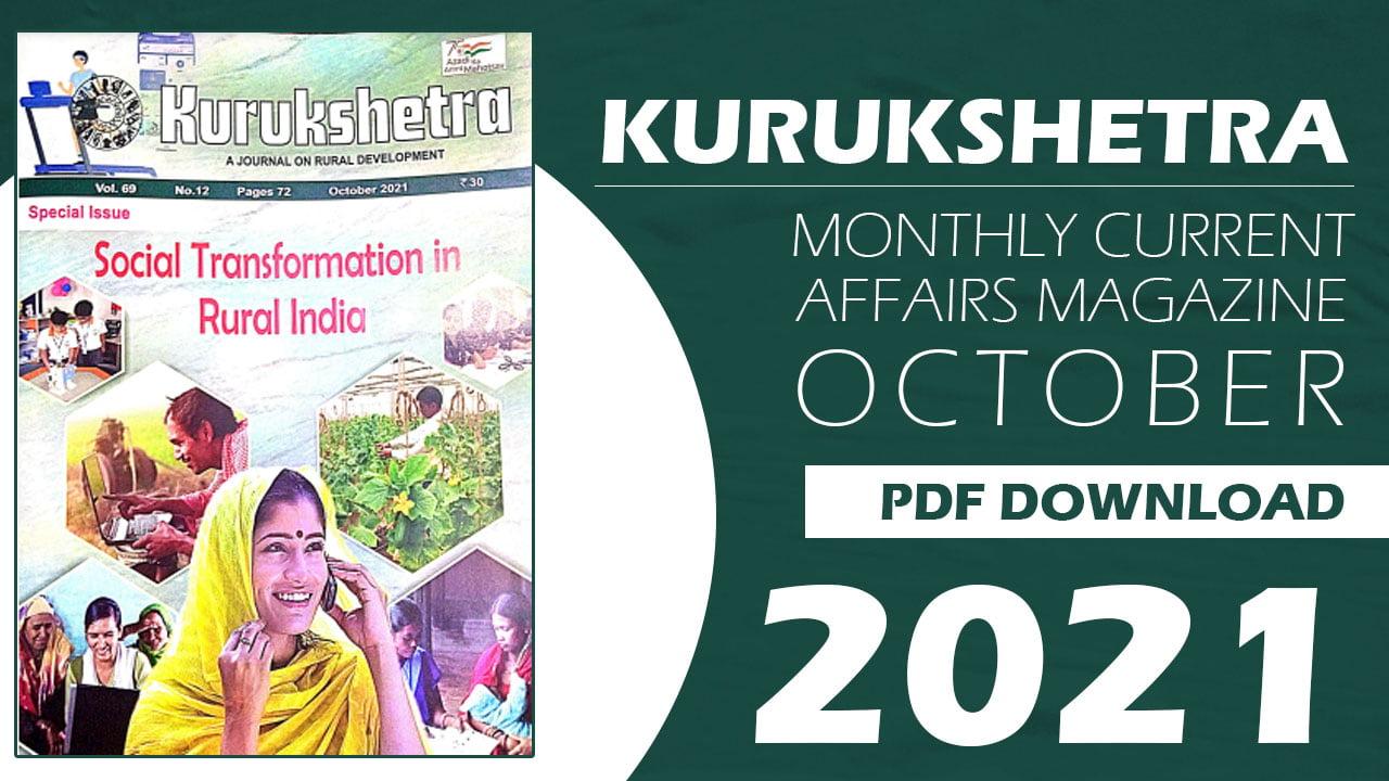 Kurukshetra Magazine October 2021
